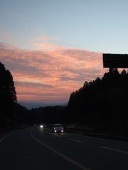 夕暮れドライブ