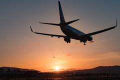 Sunset Landing Approach