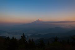 富士黄昏時