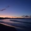 石持海岸の夕暮れ