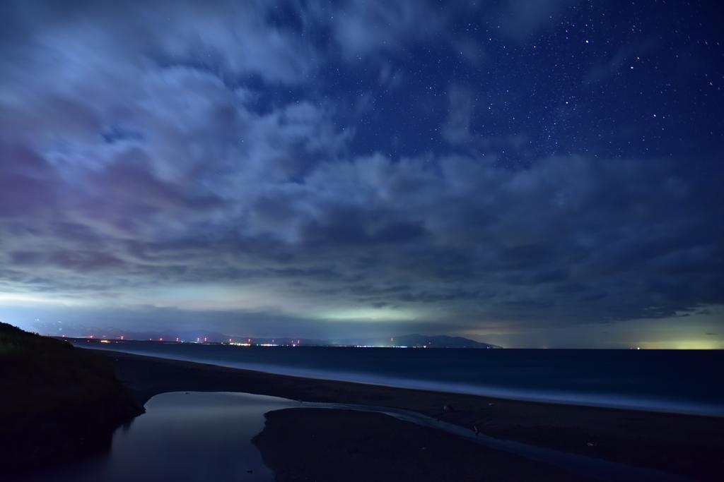袰部川夜景