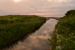 袰部川河口の映り込み