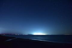 袰部川漁火夜景