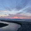 流れる雲と袰部川