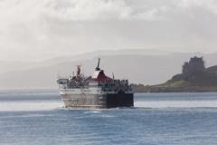 MV Isle of Mull passing Duart Castle