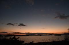 睦月湖北夕景3