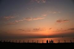 ある、春の日の夕景