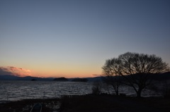 睦月湖北夕景Ⅳ-3