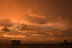 溶解する夕景