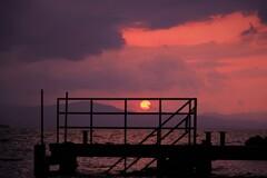 沸騰する夕空