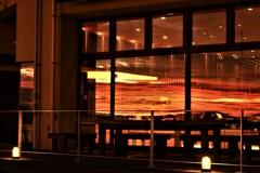 ガラスの夕景