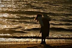 砂浜の落書き