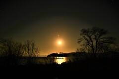 月夜の湖北