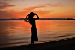 夕凪の浜辺