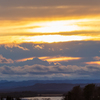 夕陽と雲。