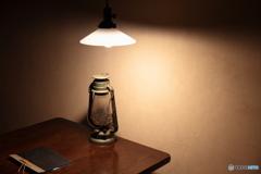 ランプを照らす