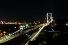 関門橋で苦戦
