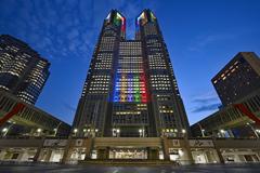 東京都庁オリンピックカラー