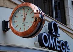 オメガの時計 銀座並木通りにて