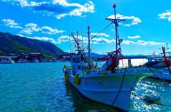 漁船のある風景 奈古漁港 (山口県 阿武町 )