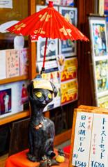 """""""蔵出し"""" ちょんまげ猫 (谷中銀座)"""