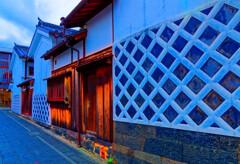 商家のなまこ壁 (萩市 住吉神社)