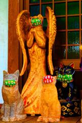 天使になった猫とDevil cat  雲林寺 (山口県 萩市)