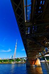 東武スカイツリーラインとスカイツリー  (隅田川)