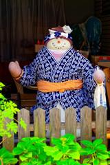 浴衣を着た人形 (中央区 佃島)