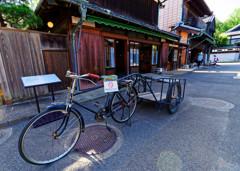 川野商店とリヤカー  (江戸東京たてもの園 東ゾーン)