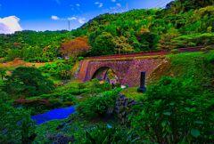 三見橋(眼鏡橋)のある風景 (山口県 萩市 )