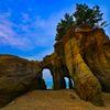 奇岩絶景くぐり岩 正面から撮影 (山陽小野田市 本山岬公園)
