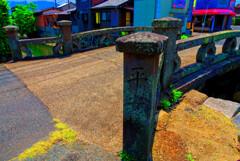 日本百名橋の平安橋 (山口県萩市)