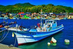 漁船のある風景 奈古漁港② (山口県 阿武町 )