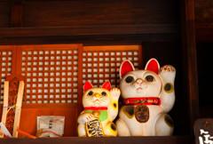 鍵屋の招き猫 (江戸東京たてもの園 東ゾーン)