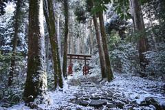 雪山の古社参道