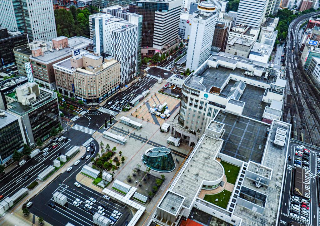 札幌駅南口周辺俯瞰