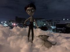 深夜の雪かき☆
