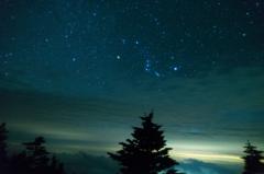 下界からは曇り、天界では星空