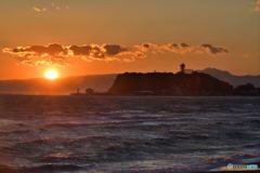 黄昏の江ノ島