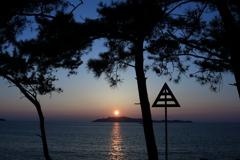 さつき松原の夕日1