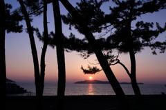 さつき松原の夕日