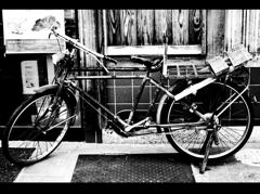 高級自転車。