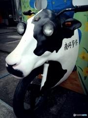 白黒牛バイ。