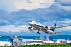 日本風景1413 旅客機