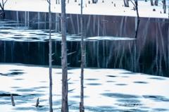 自然湖冬景色2