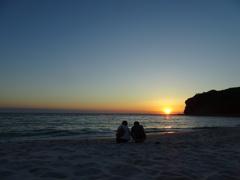 白浜夕陽。