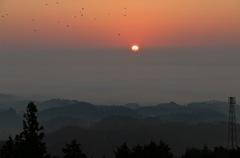 弥高山の夜明け