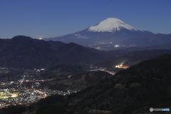 足柄から富士山