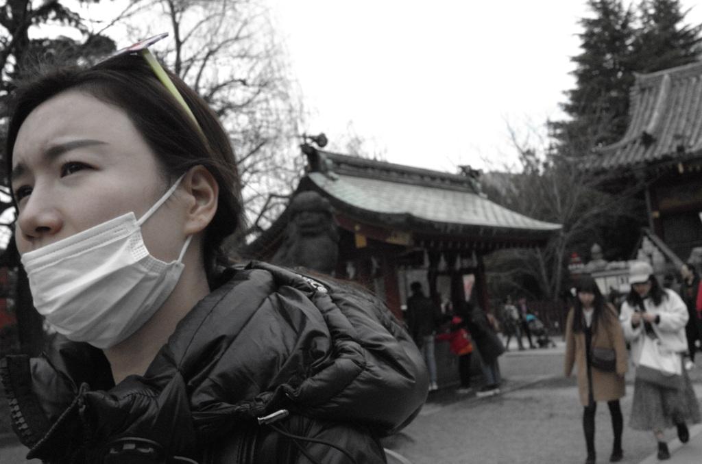 マスクは鼻まで